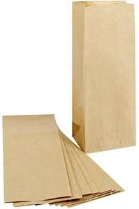 Bilde av Papirpose med bunn - 9 x 6,5 x 22,5 cm - Kraft - 12 stk