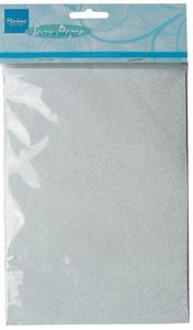 Bilde av Marianne Design - 3104 - Snow paper A5 - White Glitter - 5 pk