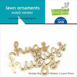 Bilde av LAWN FAWN - WOOD VENEER LF872 - HUGS