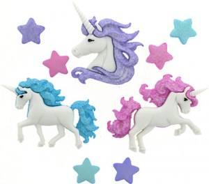 Bilde av Dress it up - Buttons - 9357 - Magical Unicorns