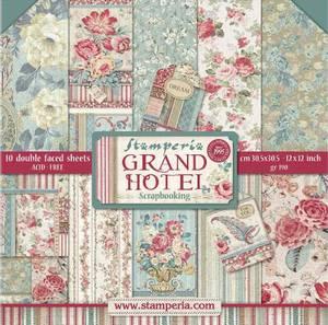 Bilde av Stamperia - 12x12 Paper Pack - 57 - Grand Hotel