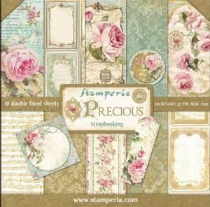 Bilde av Stamperia - 12x12 Paper Pack - 24 - Precious
