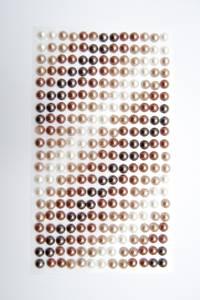 Bilde av Kort & Godt - Stickers - ST-172 - Perle - 6mm - Hvit/bruntoner