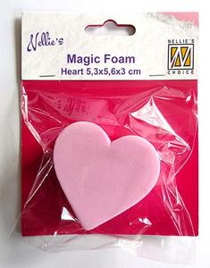 Bilde av Nellie Snellen - Magic Foam - Heart - 5,3 x 5,6 cm