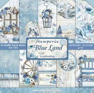 Bilde av Stamperia - 12x12 Paper Pack - 47 - Blue Land