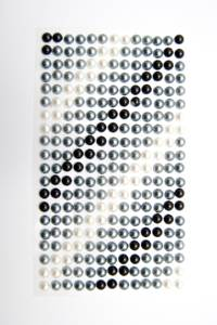 Bilde av Kort & Godt - Stickers - ST-171 - Perle - 6mm - Sort/Grå/Hvit
