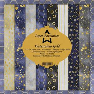 Bilde av Paper Favourites - 6x6 Paper Pad - PF132 - Watercolour Gold