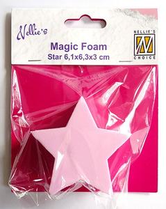 Bilde av Nellie Snellen - Magic Foam - Star - 6,1 x 6,3 cm