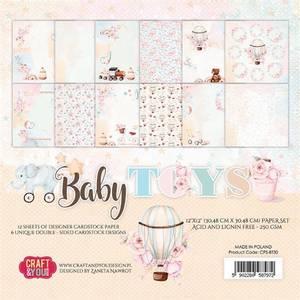 Bilde av Craft & You - BT30 - Baby Toys - 12x12 Paper Pad