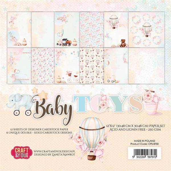Craft & You - BT30 - Baby Toys - 12x12 Paper Pad