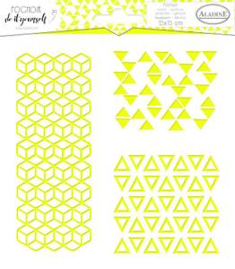 Bilde av Aladine - Stencil - 15x15cm - Trio Geometry 2