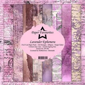 Bilde av Paper Favourites - 6x6 Paper Pad - PF140 - Lavender Ephemera