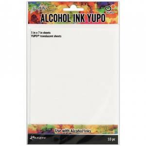 Bilde av Yupo Paper - Tim Holtz Alcohol Ink - 10 Sheets - Translucent