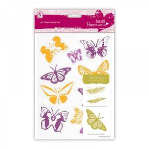 Bilde av Docrafts - A5 Clear Stamps Set 10pcs - Butterflies