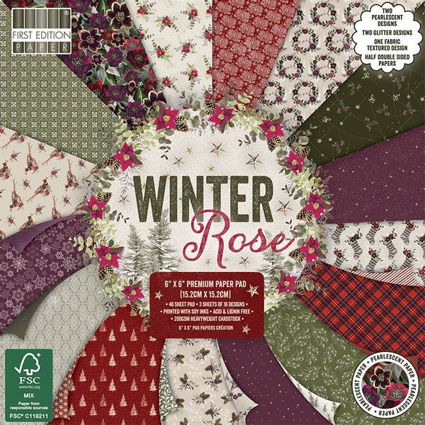 First Edition - 220 - 6x6 Paper Pad - Winter Rose