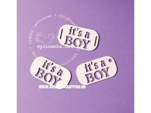 Bilde av Wycinanka - Chipboard - It's a Boy