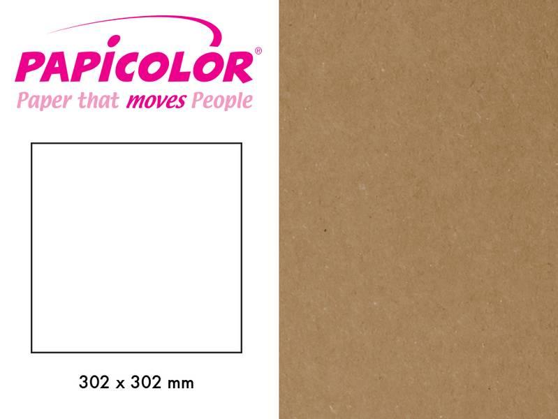 Papicolor - Kartong - 12x12 - 323 - Recycled Kraft - Brown