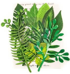 Bilde av Prima - 635633 - Flowers - Fabric Leaves - Evergreen