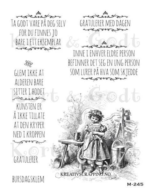 Kort & Godt - M-245 - Bursdagsklem