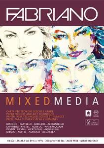Bilde av Fabriano - Mixed Media blokk - 250g - A4 - 40 ark