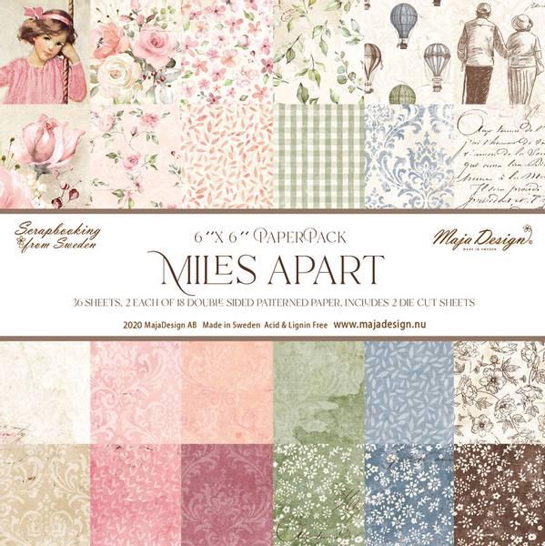 Maja Design - 1107 - Miles Apart - 6x6 Paper Pack