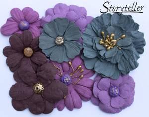 Bilde av Storyteller -  Ass blomster m senter - Lilla - 3979