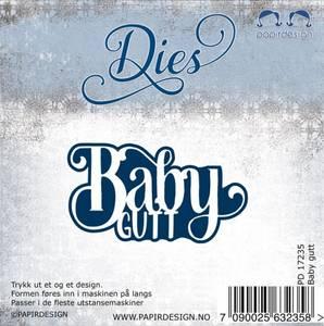 Bilde av Papirdesign dies PD17235 - Baby Gutt