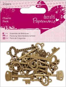 Bilde av Papermania - 356015 - Charm Pack - Vintage Keys - 21 stk
