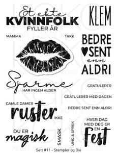 Bilde av Kort & Godt - Stempel og Die - Sett #11 - Kvinnfolk