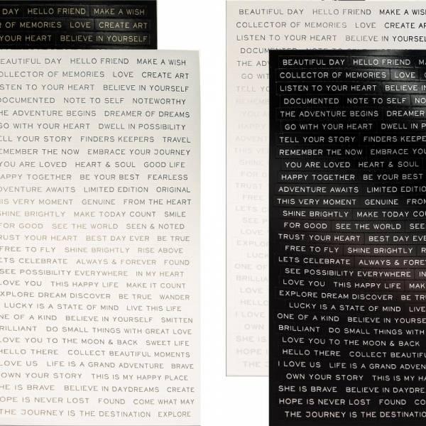 Tim Holtz - Idea-ology - TH93559 - Metallic Stickers - Quotation