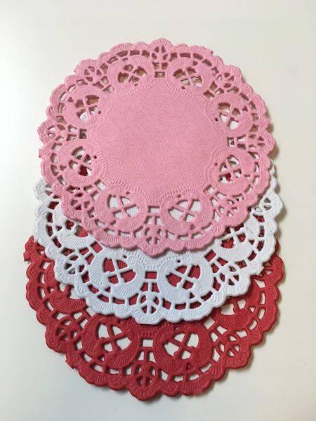 Papirdesign - Kakeservietter - 10 cm - hvit, rosa, rød