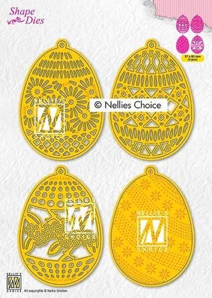 Nellie Snellen - SD189 - Shape Dies - 4 Easter eggs