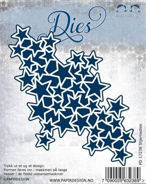 Papirdesign dies PD17238 - Stjernedies