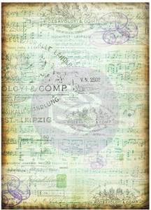 Bilde av Finnabair - 967208 - Decorative Tissue Paper - Musica - 6 ark