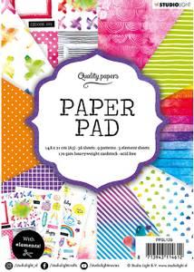 Bilde av Studiolight -  129 - PaperPad 14,8x21cm - PPSL129 - Rainbow