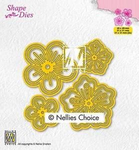 Bilde av Nellie Snellen - SD200 - Shape Dies - Set of flowers