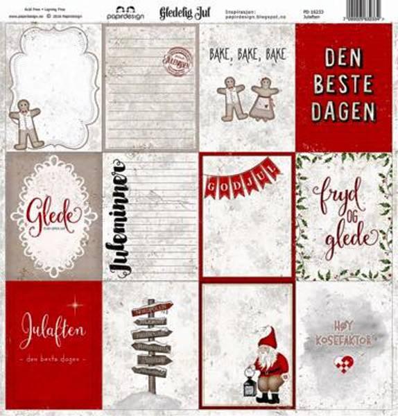 Papirdesign PD16233 - Gledelig Jul - Julaften