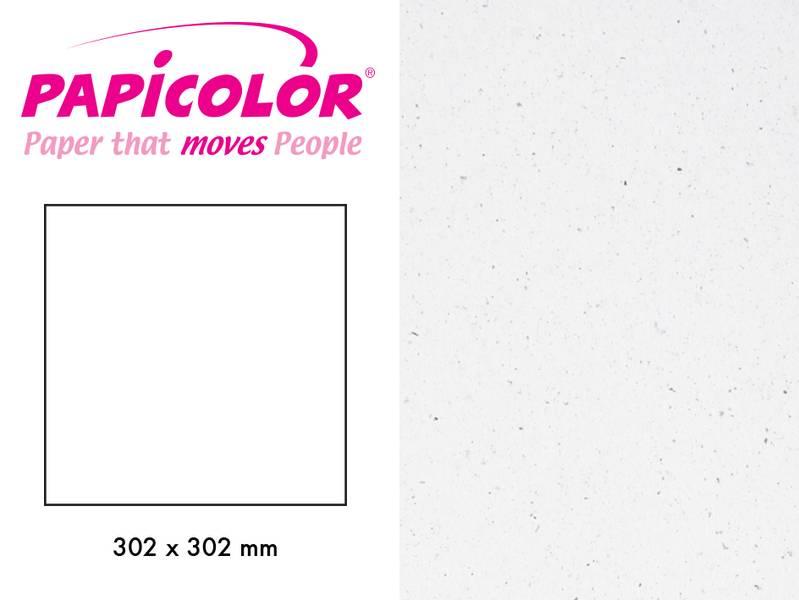 Papicolor - Kartong - 12x12 - 321 - Recycled Kraft - White