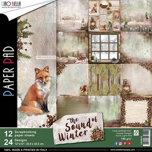 Bilde av Ciao Bella - 016 - 12x12 Paper Pad - Sound of Winter - 12pk