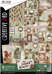 Bilde av Ciao Bella - 016 - A4 Creative Pad - Sound of Winter - 9pk