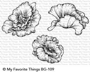 Bilde av My Favorite Things - BG109 - Cling Rubber Stamp - Poppy Blooms