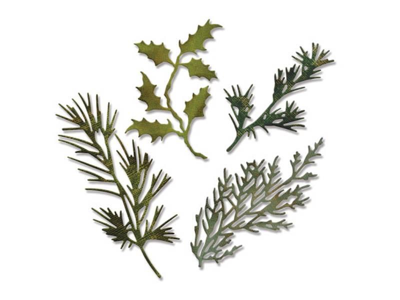 Sizzix - Thinlits - 658759 - Tim Holtz - Holiday Greens