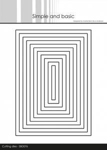 Bilde av Simple and basic - Dies - SBD076 - Rectangles