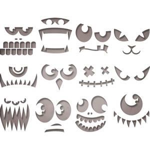 Bilde av Sizzix - Thinlits - 663090 - Tim Holtz - Frightening Faces
