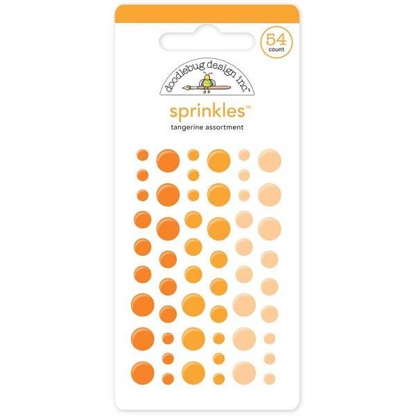 Doodlebug - 4007 - Sprinkles - Glossy dots - Tangerine