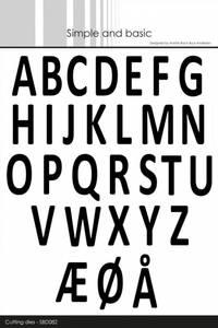 Bilde av Simple and basic - Dies - SBD082 - Alphabet XXL