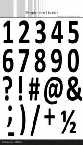 Bilde av Simple and basic - Dies - SBD084 - Numbers XXL