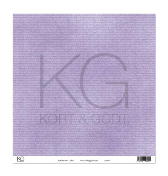 Kort & Godt - Mønsterpapir 108101 - Konfirmant - Lilla - 7290