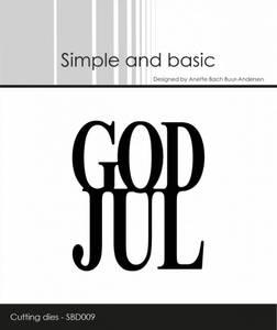 Bilde av Simple and basic - Dies - SBD009 - God Jul