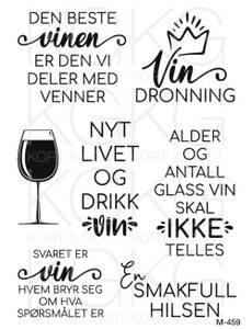 Bilde av Kort & Godt - M-459 - Den beste vinen